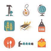 Charity, Faith And Community Organization Icon Set