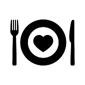 istock Charity food icon in flat style on white 1188544281