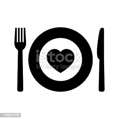 Charity food icon on white background. Simple charity food symbol in flat style. Vector illustration for graphic design, Web, UI, app