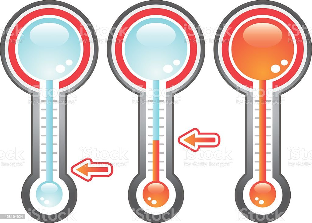 Charity Goal Thermometer vector art illustration