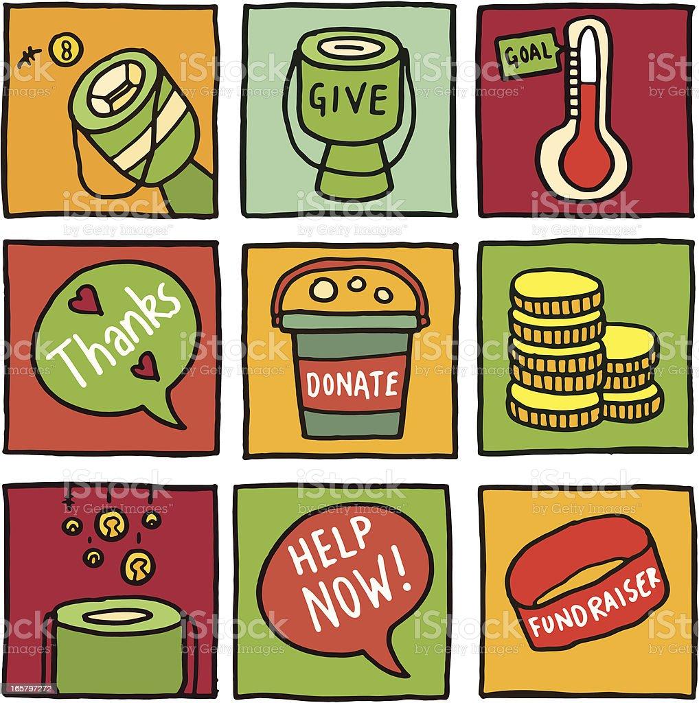 Charity icon blocks royalty-free stock vector art
