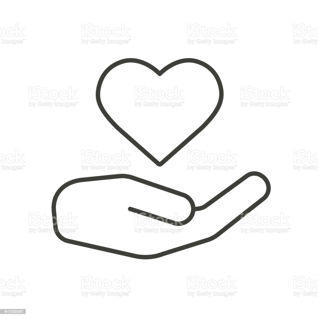 Charity icon vector art illustration