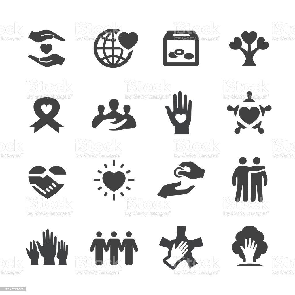 Liefdadigheid Icons - Acme serie - Royalty-free AIDS bewustzijnslintje vectorkunst