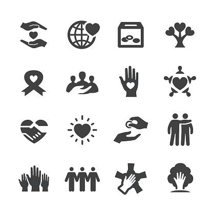 Liefdadigheid Icons Acme Serie Stockvectorkunst en meer beelden van AIDS bewustzijnslintje