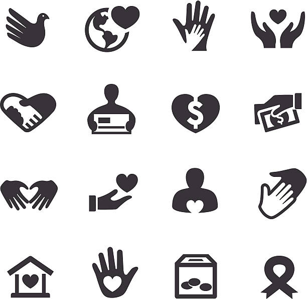 Charity Icons - Acme Series vector art illustration