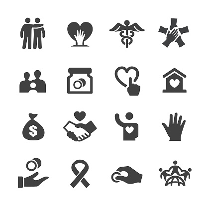 Charity Icons Acme Series Stock Illustration - Download Image Now
