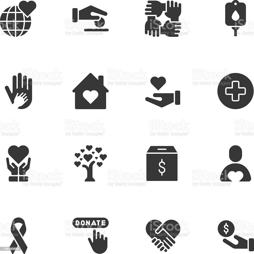 Charity icons - Regular - Royaltyfri 2015 vektorgrafik