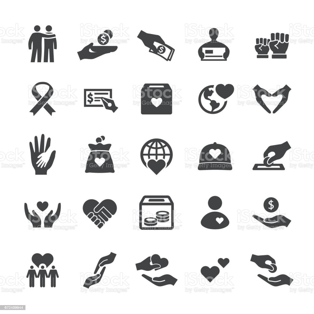Charity Icons - Smart Series vector art illustration