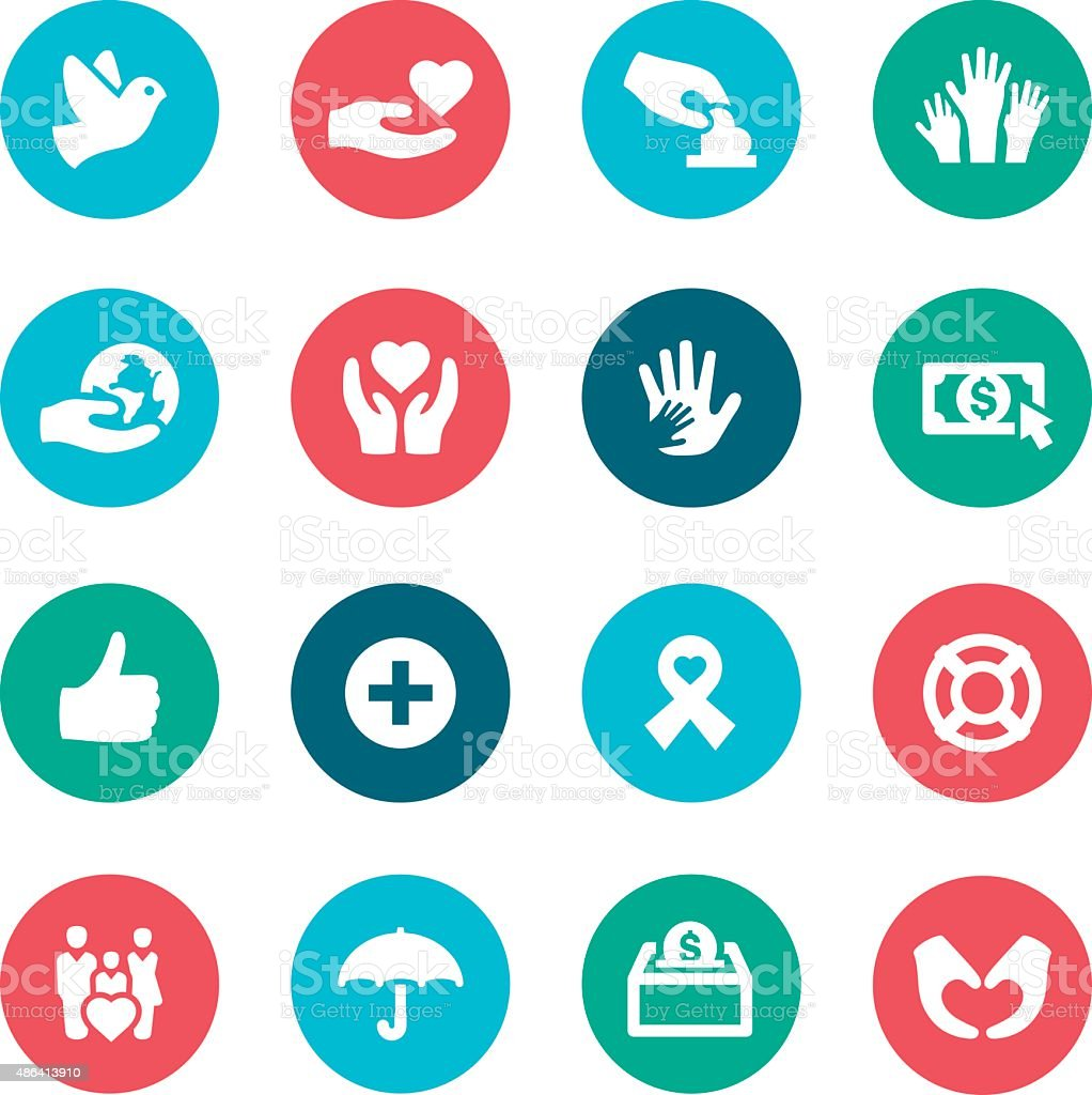 Charity icons stock vector art more images of 2015 486413910 charity icons royalty free charity icons stock vector art amp more images of 2015 biocorpaavc