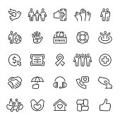 Charity, donate, icons, volunteering, icon, icon set, dove, peace, assistance