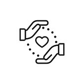 Charity Line Icon.