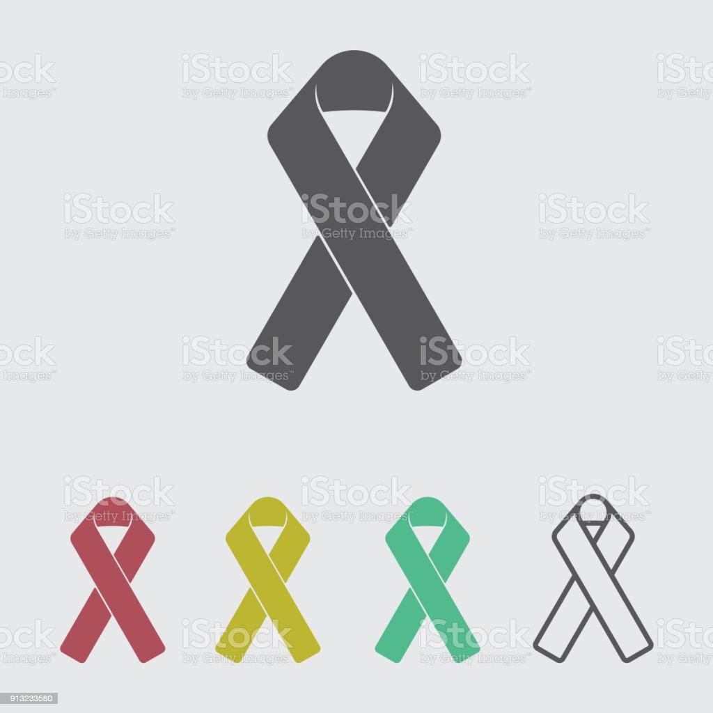 Charity ribbon vector icon vector art illustration