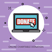 Charity Thin Line Icon