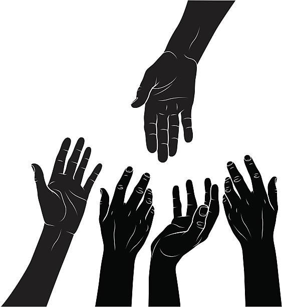 Charity vector art illustration