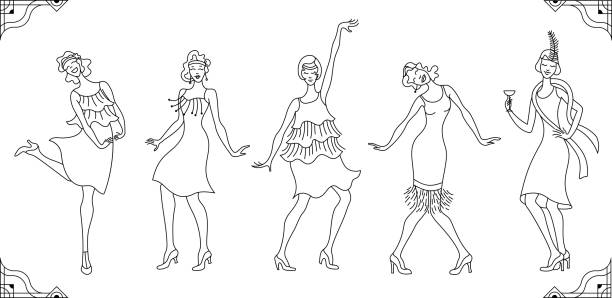 Best Broadway Dance Illustrations, Royalty-Free Vector