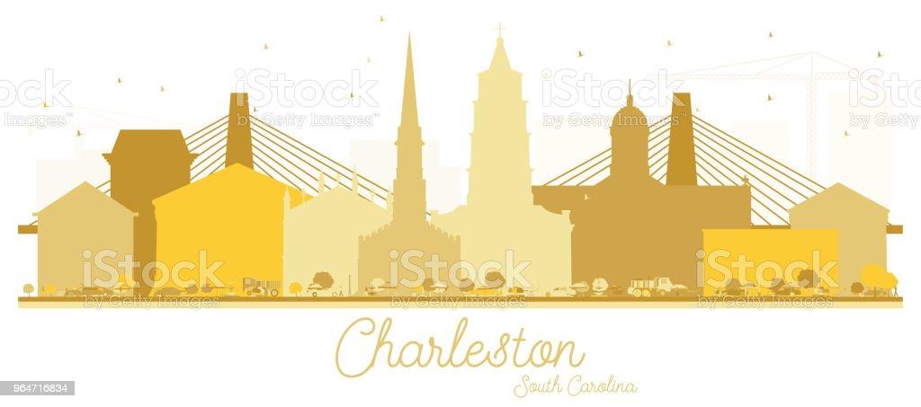 Charleston South Carolina City skyline Golden silhouette. royalty-free charleston south carolina city skyline golden silhouette stock vector art & more images of architecture