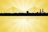 Charleston South Carolina Skyline with Arthur Ravenal Jr. Bridge