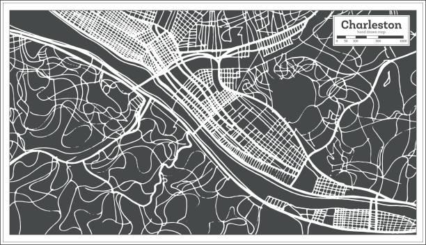 Royalty Free Map Charleston Sc Clip Art Vector