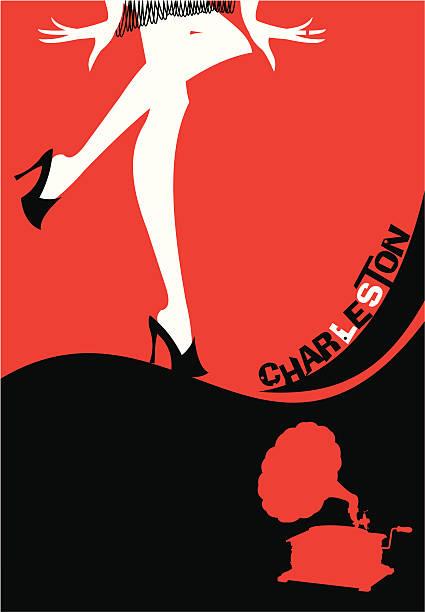 charleston - 1940s style stock illustrations, clip art, cartoons, & icons