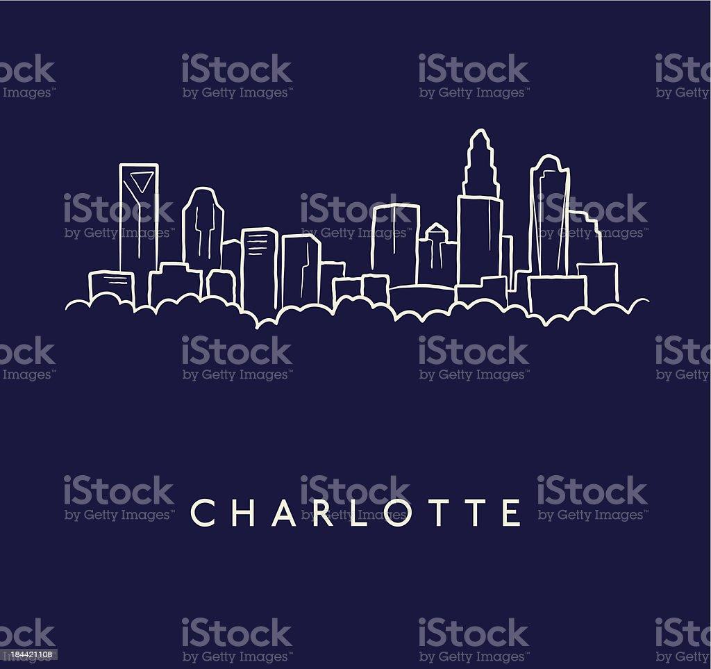 royalty free charlotte skyline clip art  vector images  u0026 illustrations