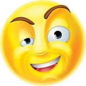 Gentleman Emoticon Vector Smiley Icon With Mustache Hat