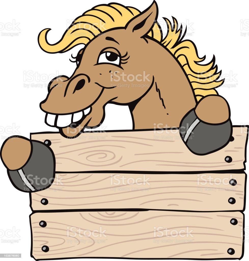 Charming Horse royalty-free stock vector art