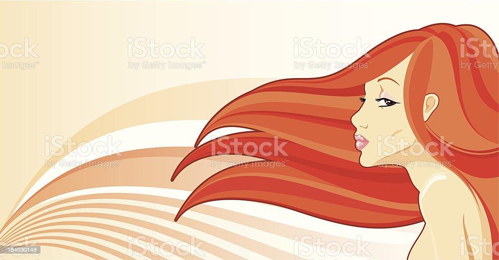 charming redhead royalty-free stock vector art
