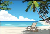Charming Tropical Beach Scene