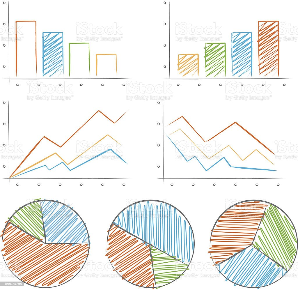 Chart collection royalty-free stock vector art