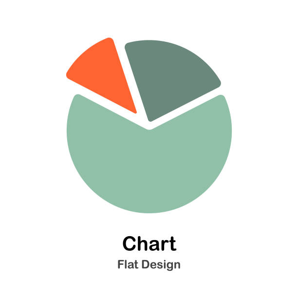 chart flat illustration - pie chart stock illustrations, clip art, cartoons, & icons