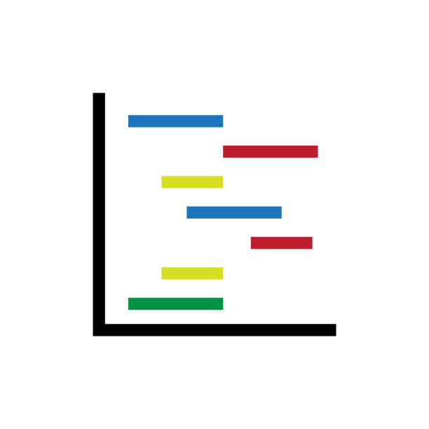 Royalty Free Background Of The Gantt Chart Clip Art Vector Images