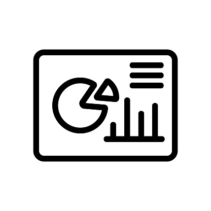 chart icon vector. Isolated contour symbol illustration