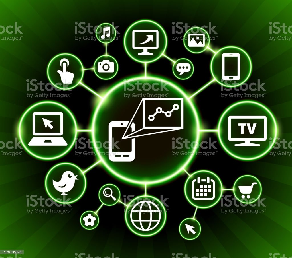 Internet Kommunikation Technologie dunkle Buttons Diagrammhintergrund - Lizenzfrei Bildhintergrund Vektorgrafik