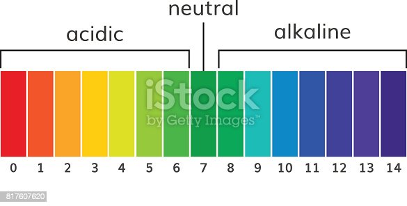 Chart ph alkaline and acidic scale vector  illustration