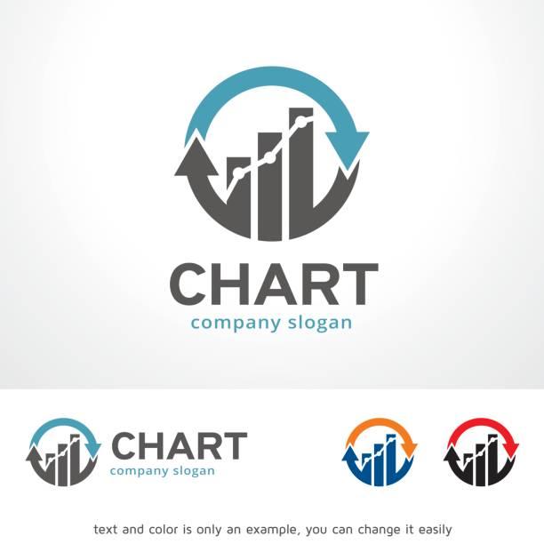 차트 기호 템플릿 디자인 벡터, 상징, 디자인 컨셉, 창조적인 기호, 아이콘 - 샘플 텍스트 stock illustrations