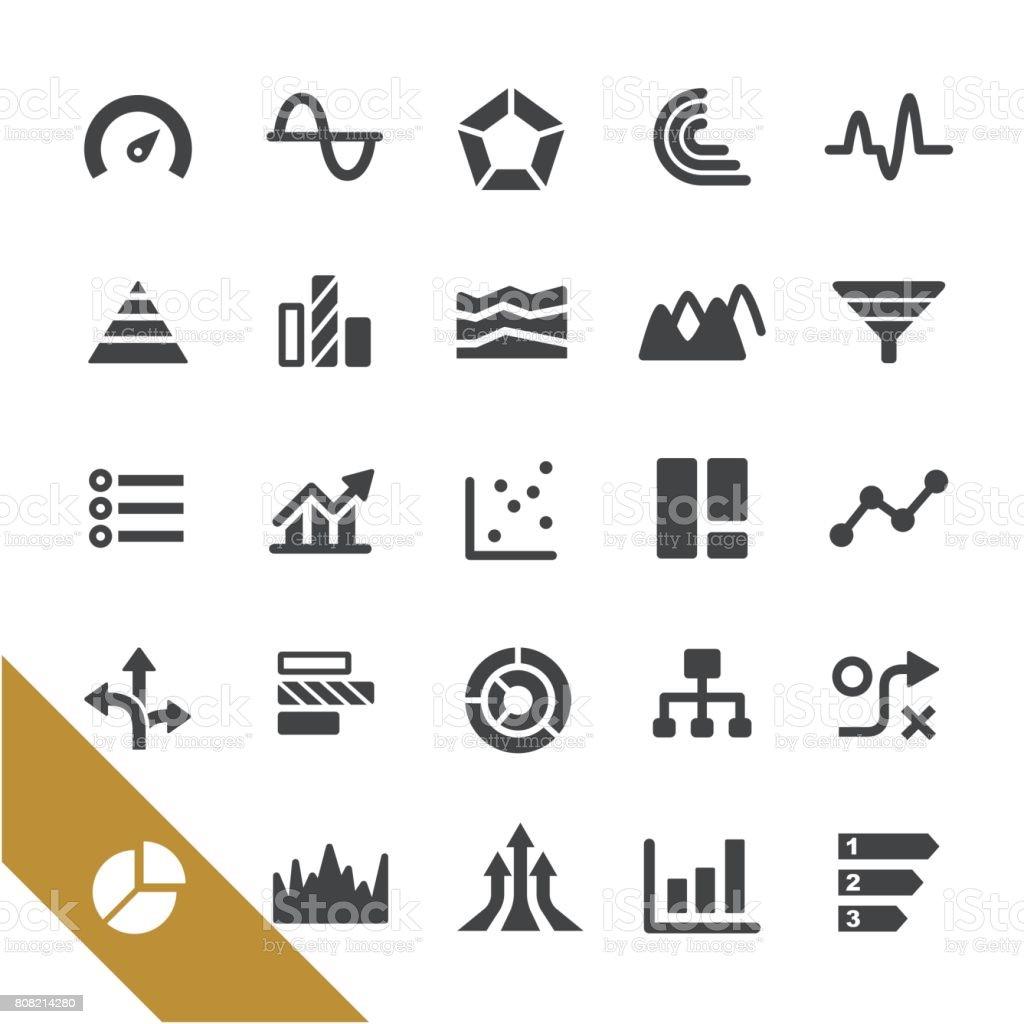 Types de graphique Icons - série Select - Illustration vectorielle