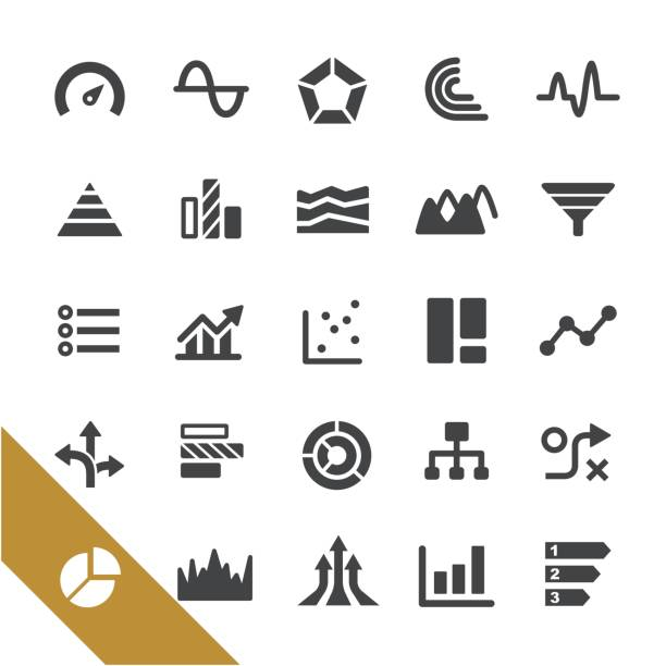 Types de graphique Icons - série Select - Illustration vectorielle