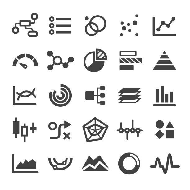 Chart Types Icons Set - Smart Series View All: gantt chart stock illustrations