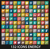 Chart with set of 132 energy ad resource icons