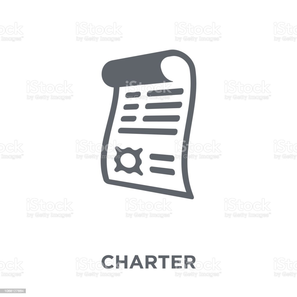 Charter icon from Delivery and logistic collection. vector art illustration