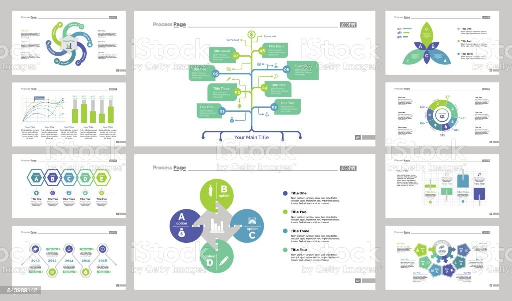 Charts And Graphs Templates Set stock vector art 843989142   iStock