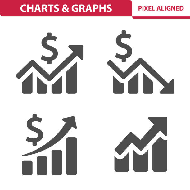 Charts & Graphs Icons Professional, pixel perfect icons, EPS 10 format. loss stock illustrations