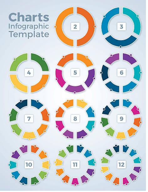 wykresów, wykresy szablon grafika informacyjna - część stock illustrations
