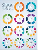 Charts Infographic Template Graphs