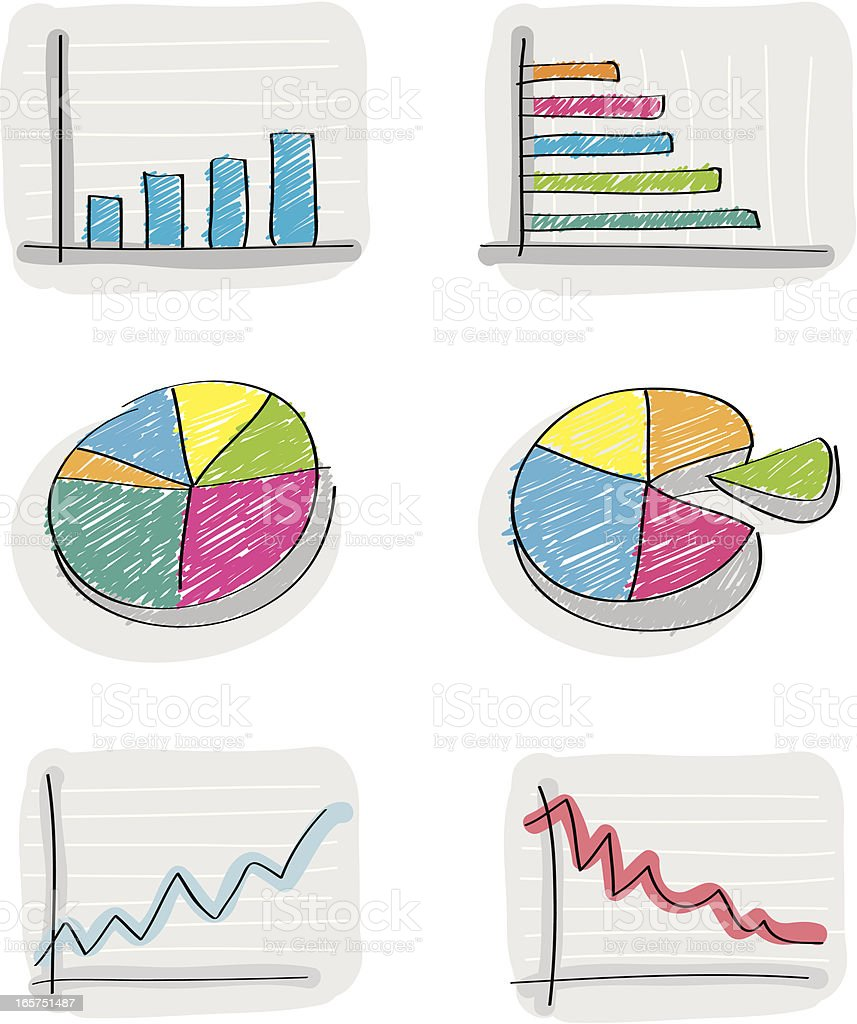 Charts Set royalty-free stock vector art