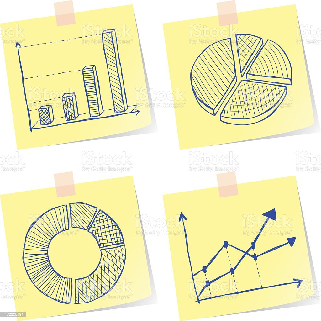Charts sketches royalty-free charts sketches stock vector art & more images of arrow - bow and arrow