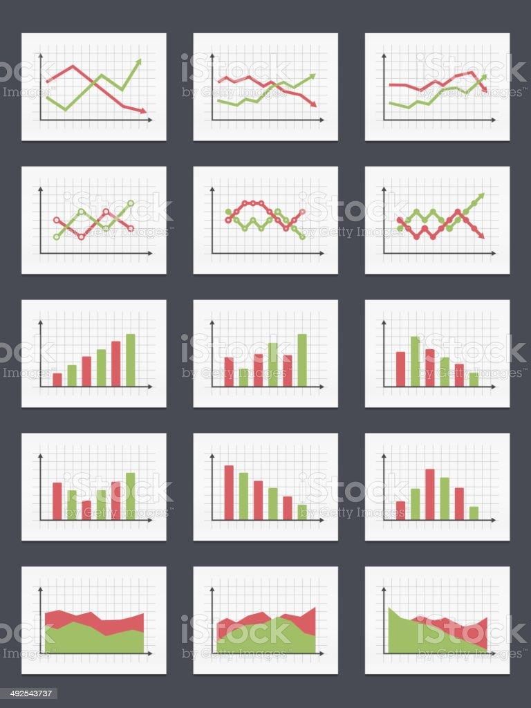 Charts vector art illustration