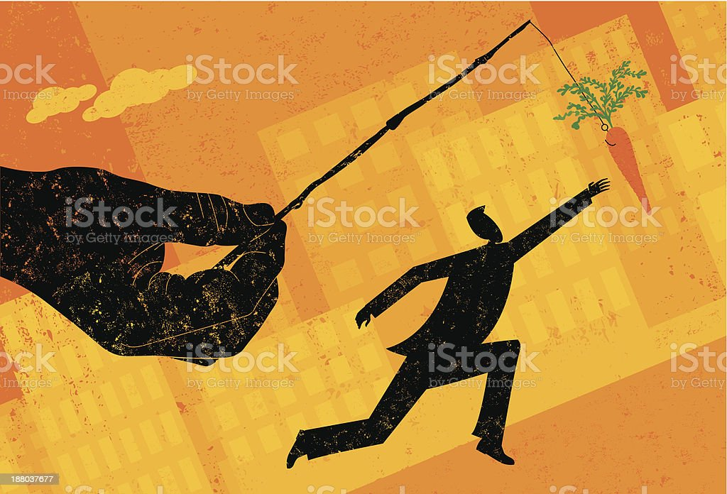 Chasing a carrot royalty-free chasing a carrot stock vector art & more images of achievement