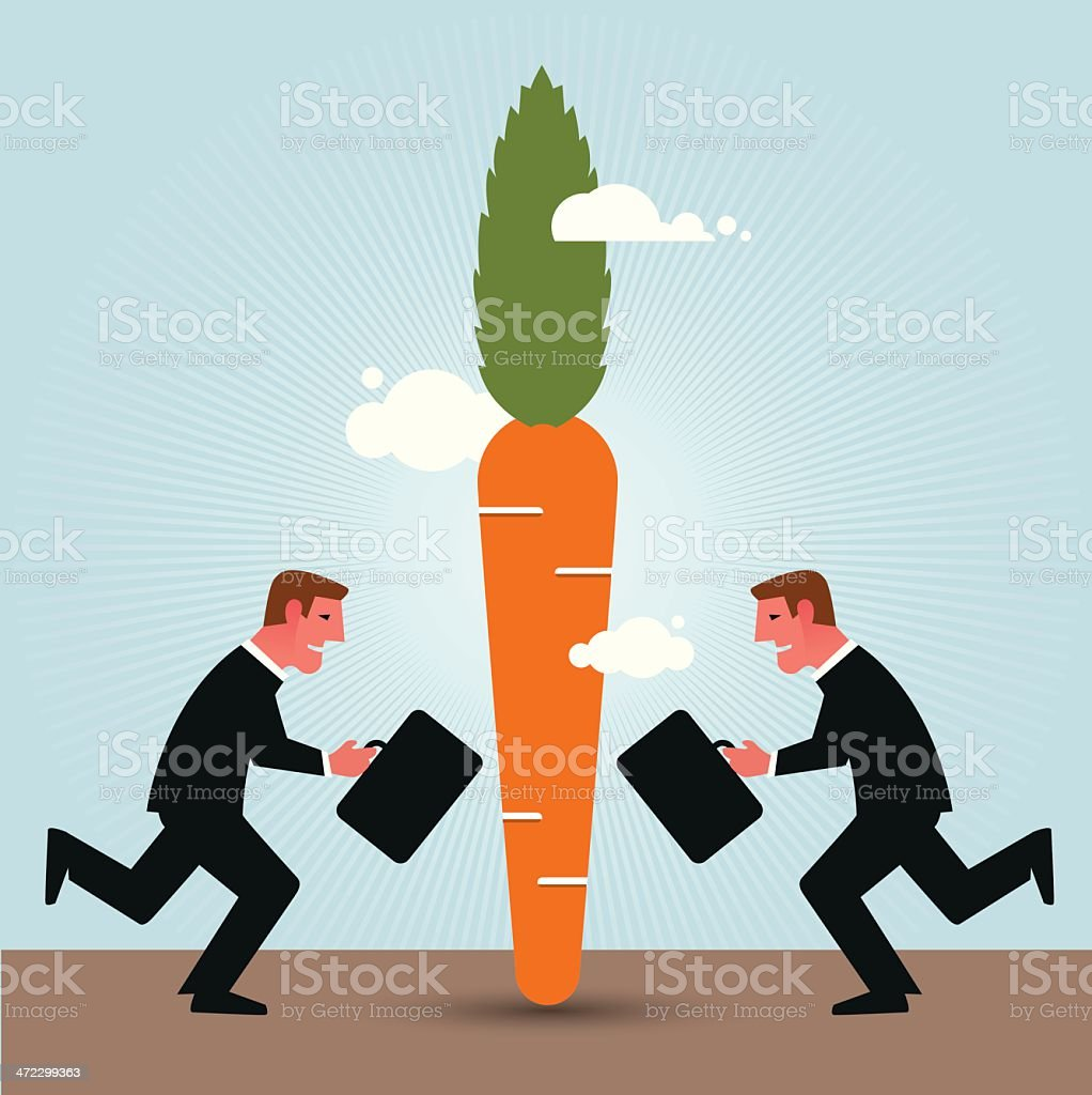 Chasing Carrot royalty-free stock vector art