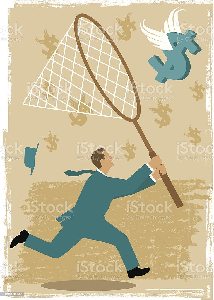 Chasing The Dollar royalty-free chasing the dollar stock vector art & more images of adult